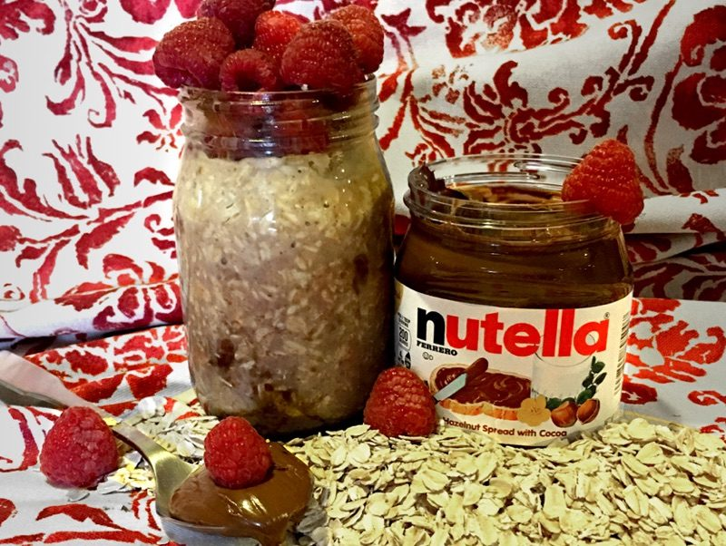 Overnight Oats with… Nutella? Oh Yes!