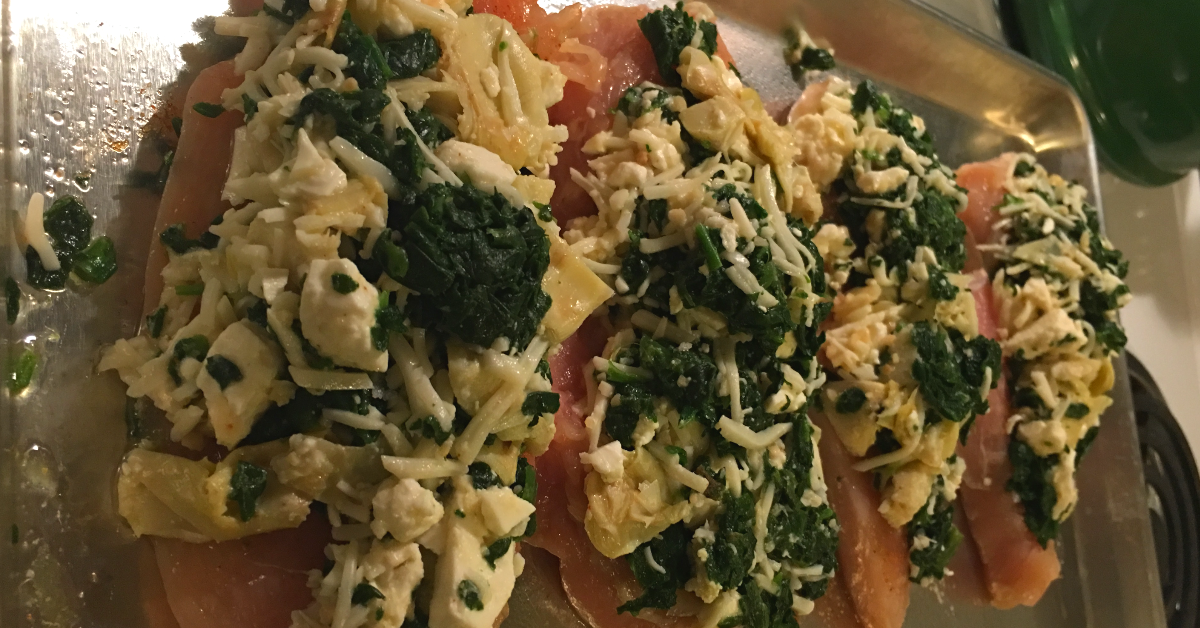 spinach artichoke feta chicken
