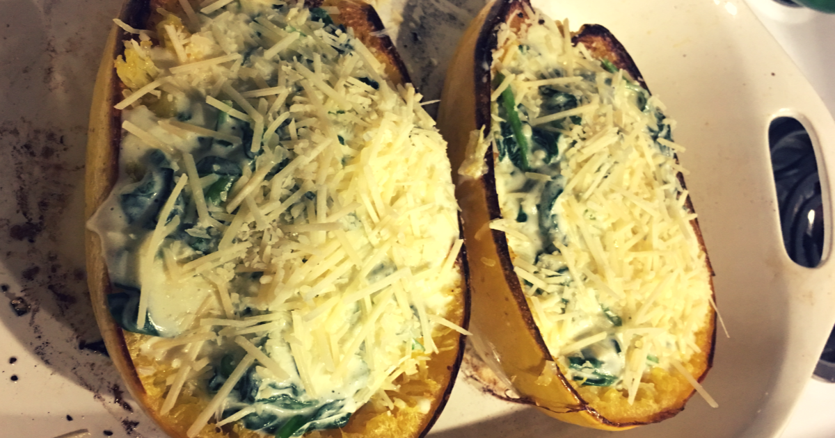 cheesy garlic spaghetti squash recipe